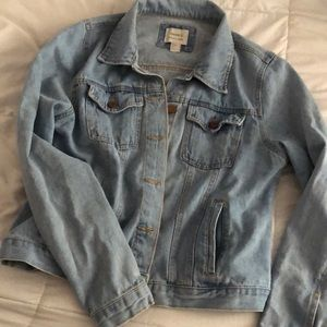 Selling a light blue denim jacket